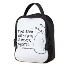 time with cats Neoprene Lunch Bag