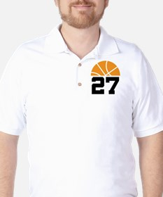 Basketball Number 27 Player Gift T-Shirt