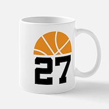 Basketball Number 27 Player Gift Mug
