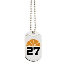 Basketball Number 27 Player Gift Dog Tags