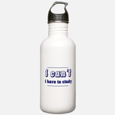 I Can't (Blue) Water Bottle