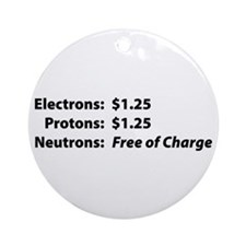 Free of Charge Ornament (Round)