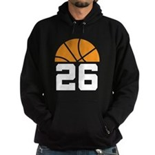 Basketball Number 26 Player Gift Hoodie