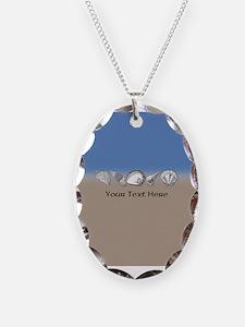 Beach Seashell Theme Art Personalizable Necklace