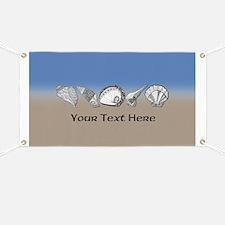 Beach Seashell Theme Art Personalizable Banner
