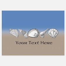Beach Seashell Theme Art Personalizable Invitation