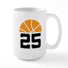 Basketball Number 25 Player Gift Mug