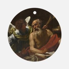 Saint Jerome and the Angel Round Ornament