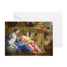 The Muses Urania and Calliope Greeting Card