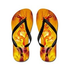 This Dragon's On Fire! Cool Flip Flops