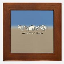 Customized Beach Seashell Art Collecti Framed Tile