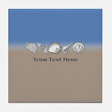 Customized Beach Seashell Art Collect Tile Coaster