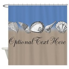 Unique Shell Art Customizable Shower Curtain
