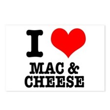 I Heart (Love) Mac & Cheese Postcards (Package of