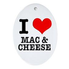 I Heart (Love) Mac & Cheese Oval Ornament