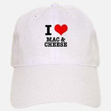 I Heart (Love) Mac & Cheese Baseball Baseball Cap