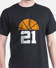 Basketball Number 21 Player Gift T-Shirt