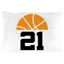 Basketball Number 21 Player Gift Pillow Case