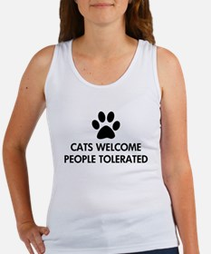 Cats Welcome People Tolerated Women's Tank Top