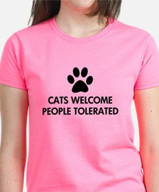 Cats Welcome People Tolerated Tee