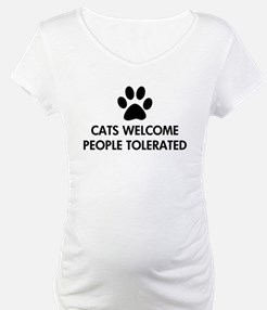 Cats Welcome People Tolerated Shirt