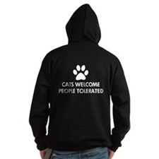 Cats Welcome People Tolerated Hoodie