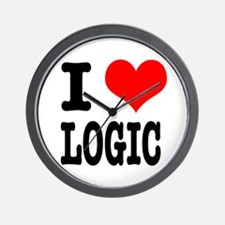 I Heart (Love) Logic Wall Clock