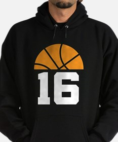 Basketball Number 16 Player Gift Hoodie