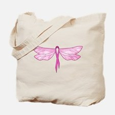 Breast Cancer Dragonfly Tote Bag