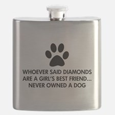 Girl's Best Friend Dog Flask