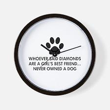 Girl's Best Friend Dog Wall Clock