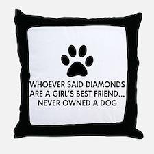 Girl's Best Friend Dog Throw Pillow