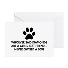 Girl's Best Friend Dog Greeting Card