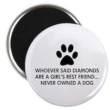 """Girl's Best Friend Dog 2.25"""" Magnet (10 pack)"""