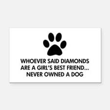 Girl's Best Friend Dog Rectangle Car Magnet