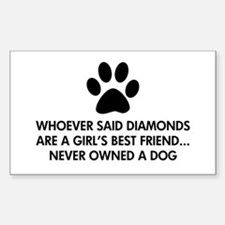 Girl's Best Friend Dog Decal