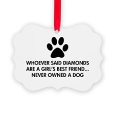Girl's Best Friend Dog Ornament
