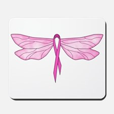 Breast Cancer Dragonfly Mousepad