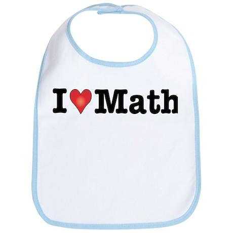 I Love Math Bib