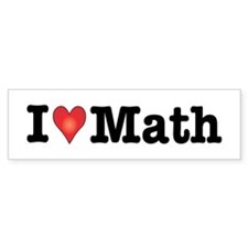 I Love Math Bumper Car Sticker