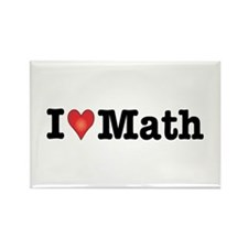 I Love Math Rectangle Magnet (10 pack)