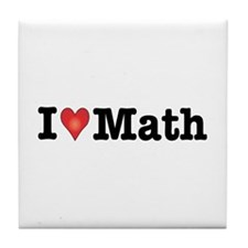I Love Math Tile Coaster