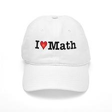 I Love Math Baseball Cap