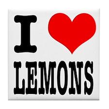 I Heart (Love) Lemons Tile Coaster
