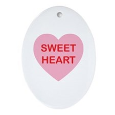 Sweet Heart - Candy Heart Ornament (Oval)