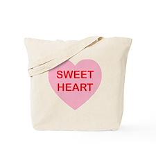 Sweet Heart - Candy Heart Tote Bag