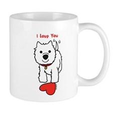 I Love You Westie Mugs