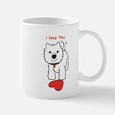 I Love You Westie Mugs