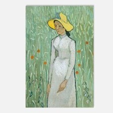 Vincent Van Gogh - Girl i Postcards (Package of 8)