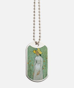 Vincent Van Gogh - Girl in White Dog Tags